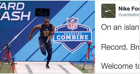 f21651680685 Nike Trolls Adidas After John Ross Breaks Record In Their Shoes   Misses  Out On Island