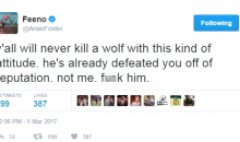 Arian Foster Thinks He'd Win a 1-On-1 Battle Against a Wolf (TWEETS)