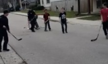 Police Called To Stop a Kids Street Hockey Game; Cops Decided To Join In Instead (VIDEO)