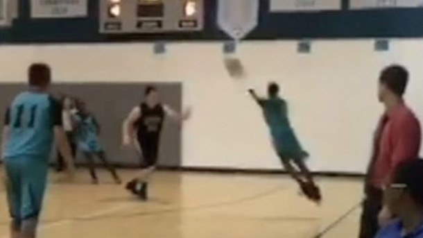 13-year old Jamarion Styles doesn't need arms to drain three-pointers