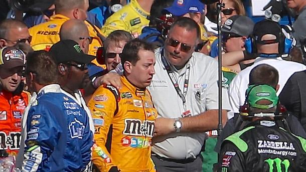 Kurt Busch NASCAR Fight Joey Logano