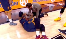 LeBron James Missed 4th Quarter Vs. Spurs After Taking David Lee Elbow to the Spine (Video)