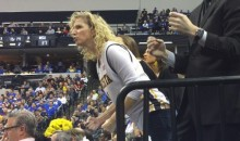 Sports Writer Says NCAA Made Him Delete Video of Wichita State Coach's Wife Acting Like a Lunatic (Video)