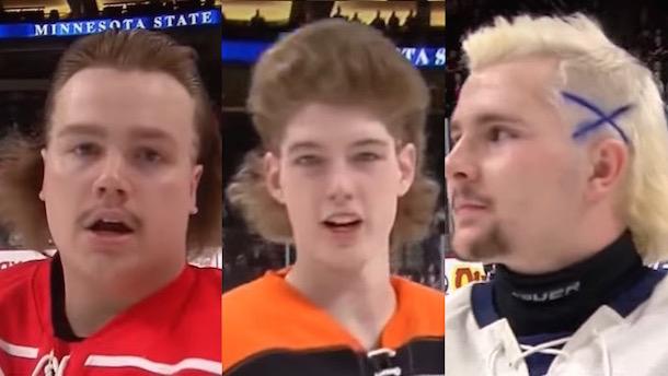 minnestoa high school hockey tournament hockey hairdos all hockey hair team