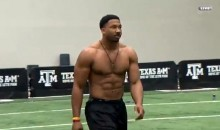 Football Monster Myles Garrett Looks Like Number One Draft Pick at Texas A&M Pro Day (Videos)