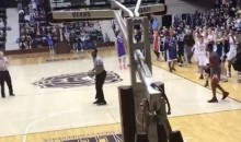 High School Basketball Ref Throws Down Windmill Dunk, Gym Explodes (Video)