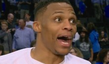 Russell Westbrook Becomes First Player to Record Triple-Double without Missing a Shot, and His Reaction Is Priceless (Video)
