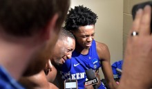Kentucky's De'Aaron Fox & Bam Adebayo Were Extremely Emotional After Loss To Tar Heels (VIDEO)