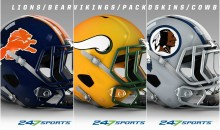 Someone Created Customized NFL Helmets In Their Biggest Rivals' Colors (PICS)