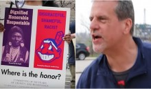 Cleveland Indians Fans Clash With Chief Wahoo Protesters: '100 Years of Racism, Change The Logo' (VIDEO)