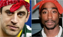 "Aaron Rodgers Raps Along to Tupac's ""Hit 'Em Up"" At Final Four (Video)"