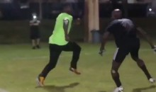 Antonio Brown Posts Video Of Him Torching Chad Johnson 1-on-1 (Video)