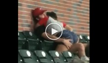 Young Couple in Stands Get It On at The Atlanta Braves Game (VIDEO)