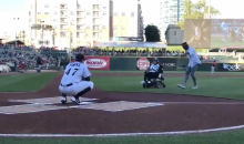 Cam Newton Helps Make-A-Wish Child Throw 1st Pitch at Baseball Game (VIDEO)