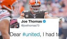 Joe Thomas Called Out United Airlines For Violently Dragging Passenger From Plane