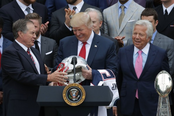 Donald Trump Hosts Super Bowl Champion New England Patriots At The White House