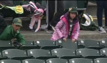 Grown Man Fights Off Young Child For Foul Ball (Video)