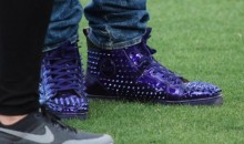 Leonard Fournette Shows Off His $1,300 Purple Louboutins at LSU Spring Game
