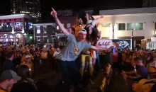 Nashville Predators Fans Celebrate Sweeping Blackhawks By Flipping Over a Car (VIDEO)