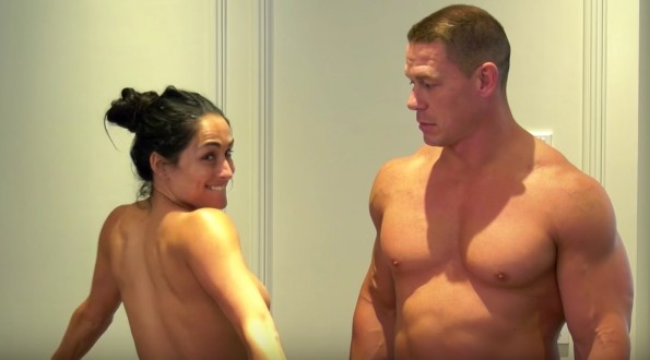 Naked Cena and Nikki Bella