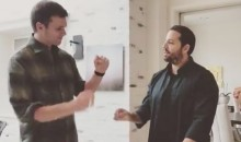 For His Next Trick, Tom Brady Feeds Glass to David Blaine (Video)