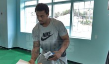 Greg Hardy, Seemingly Out of Places to Go, Reports to Spring Football Camp