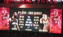 Houston Rockets Troll Russell Westbrook on the Jumbotron One Last Time (Pic)