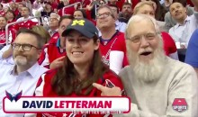 David Letterman and His Enormous Playoff Beard Showed up at the Caps-Penguins Game (Video)