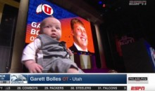 Utah's Garret Bolles Brought His Very Sharp-Dressed Baby to the Draft (Video and Pics)