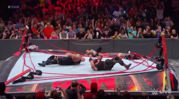 WWE Ring Collapse