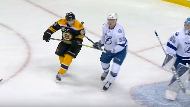 brad marchand spears guy in the junk
