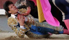 Bullfighter Gets Gored Right in His Throat (VIDEO)
