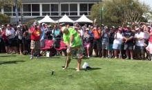 Shoeless John Daly Drives a Ball off a Beer Can & Chugs it, All While Smoking (VIDEO)