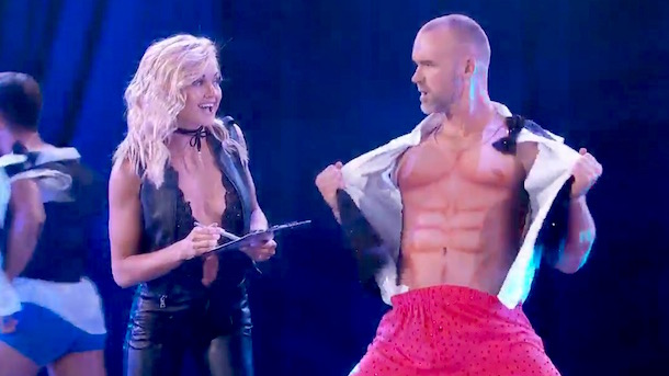 david ross dancing with the stars magic mike dance