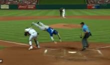 Toronto Blue Jays' Chris Coghlan Goes Full Superman Over Catcher To Score (VIDEO)