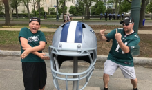Eagles Fans Have Way Too Much Fun Disrespecting The Cowboys Draft Helmet (PICS + VIDEO)