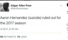 Social Media Reacts to Aaron Hernandez Taking His Own Life in Prison (TWEETS + PICS)