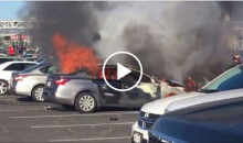 Fans In Oakland Set Fire To Car Outside Coliseum Before Opening Day For The A's (VIDEO)