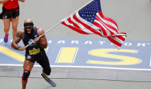 Marine Who Lost Leg in Combat Runs Entire Boston Marathon Holding American Flag (VIDEO)