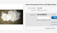 Someone is Selling Aaron Hernandez 'Prison Cell Bed Sheet' on EBAY For $15K