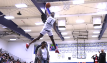 UCLA Commit Jaylen Hands Jumps over Parents to Win High School Dunk Contest (VIDEO)