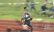 LSU's 300 Pound OL Commitment Kardell Thomas Shows Off Speed Running Track (VIDEO)