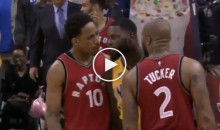 Raptors' Players Ready To Throw Hands After a Lance Stephenson Late Game Layup (VIDEO)