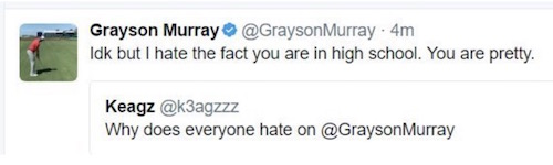 grayson murray tweets at high school girl
