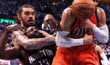 Rockets GM Tweets Photo of Steven Adams Putting James Harden in a Headlock During Game 4