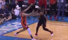 Refs Miss Blatant Push Off By James Harden, Screw OKC At End of Game (VIDEO)