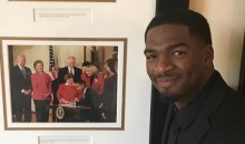 Patriots Backup QB Jacoby Brissett Pays Tribute to Obama During White House Visit (Pics)