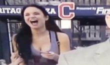 Cleveland Indians Fan Grabs Girlfriends Breasts on Live TV (Video)