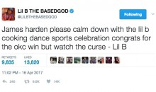 Rapper 'Lil B' Warns James Harden To Stop Doing His Cooking Dance