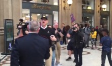 Let's Watch Jim Harbaugh Get Scolded by Italian Security Guards for Playing Football in a Rome Shopping Mall (Video)